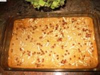 DESSERT: Lagan nu Custard - garnished with almonds, pistachios