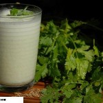 Salted Lassi with Coriander