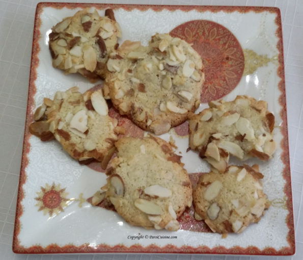 Almond Macaroons Melt in your mouth. Made with Vanilla, Egg Whites , Almonds. One Dozen $10