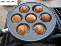 """Bhakhra made in an """"Ebelskiver"""" pan. The dutch call these Poffertjes"""