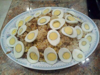 Parsi-style Chicken Saffron Pulao